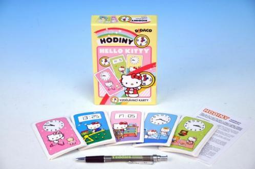 Didaco Hodiny Hello Kitty vzdělávací karty v krabičce