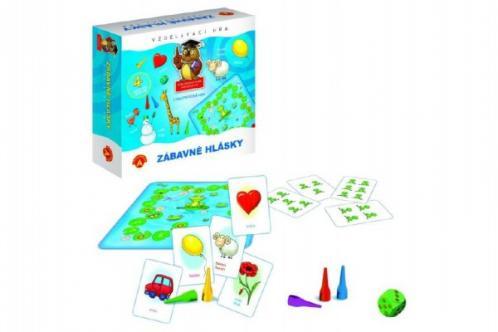 Zábavné hlásky vzdělávací společenská hra v krabici 19,5x18,5x5cm
