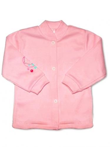 Růžový kojenecký kabátek vel. 68 New Baby
