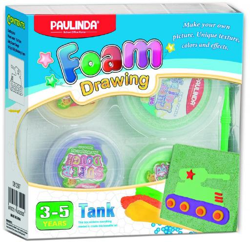 Foam Drawing – kreativní sada Tank