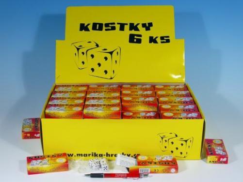 Kostky hrací 6ks v krabičce