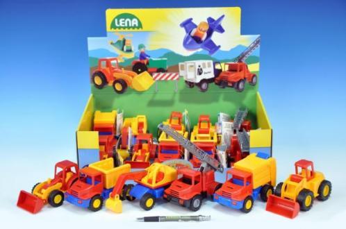 Auto mini Compact stavební plast 12cm asst 5 druhů