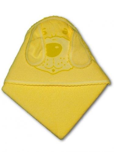 Dětská osuška pejsek 100x100 Žlutá