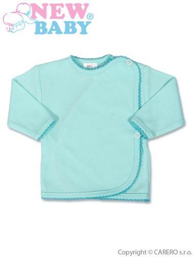 Kojenecká košilka proužkovaná vel. 56 New Baby tyrkysová