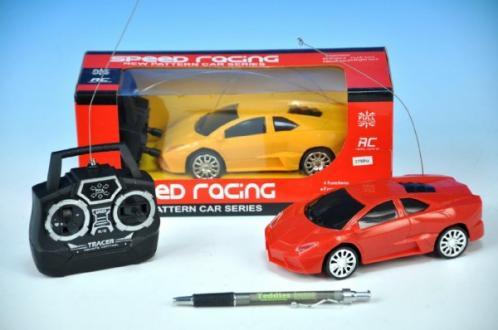 Auto R/C plast 16cm 27MHz na baterie asst 2 barvy