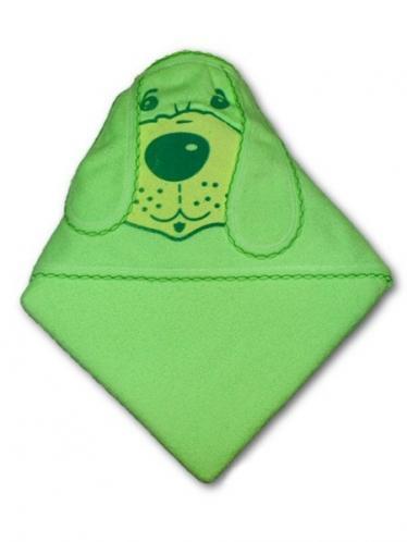 Dětská osuška pejsek 100x100 Zelená