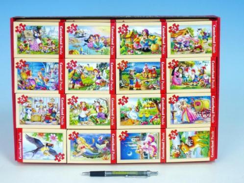 Minipuzzle Pohádky 16,5x11cm asst 8 druhů 54 dílků v krabičce