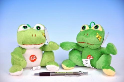Žába plyš 13cm na baterie se zvukem asst 2 barvy