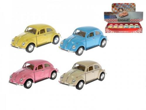 Auto Kinsmart VW Classical Beetle 1967 1:32 kov 13cm zpětný chod asst 4 barvy