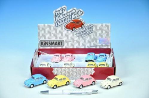 Auto Kinsmart VW Classical Beetle 1967 1:64 kov 6cm zpětný chod asst 4 barvy