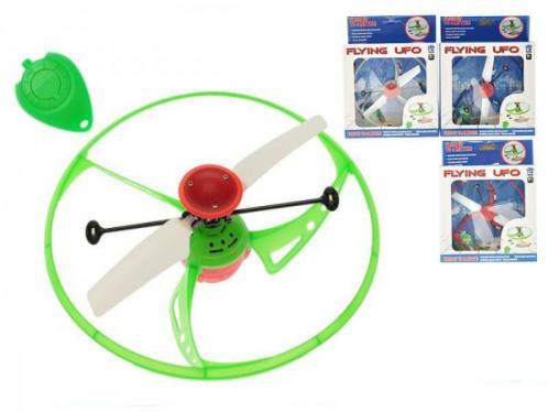 Létající UFO 15cm se senzorem ovladačem a USB nabíjecím kabelem asst 4 barvy