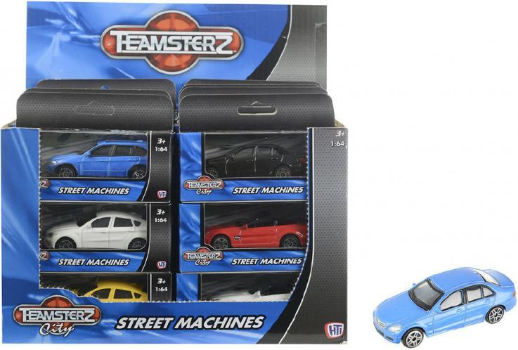 Autíčko Teamsterz 1:64 - žlutý kabriolet