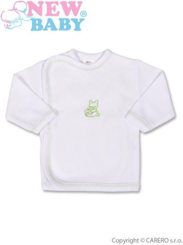 Kojenecká košilka s vyšívaným obrázkem vel. 50 New Baby zelená
