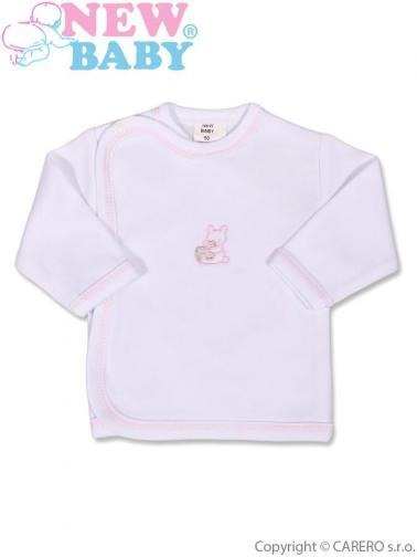 Kojenecká košilka s vyšívaným obrázkem vel. 50 New Baby růžová
