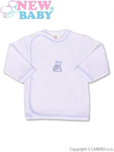 Kojenecká košilka s vyšívaným obrázkem vel. 50 New Baby modrá