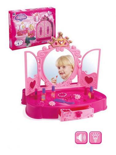 Dětský toaletní stolek Bayo + příslušenství 13 ks Růžová