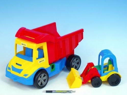 Auto multitruck s nakladačem plast 37cm asst 2 barvy od 12 měsíců Wader