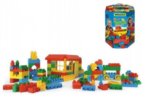 Kostky pro kluky plast 132ks v papírové krabici Wader