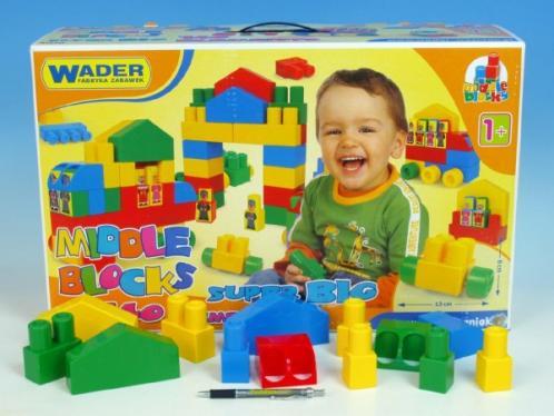 Kostky stavebnice Middle Block Super Big Wader plast 140ks v krabici 58x36x20cm