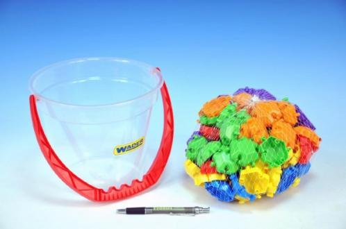 Kostky puzzle plast 88ks v kbelíku Wader