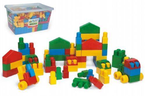 Kostky stavebnice Middle Block plast 240ks Wader v plastovém boxu