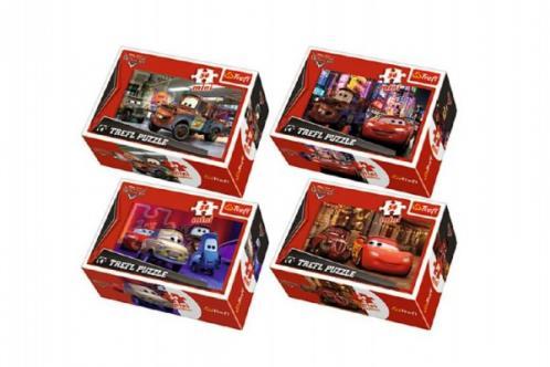Minipuzzle Cars 2/Disney 54dílků asst 4 druhy