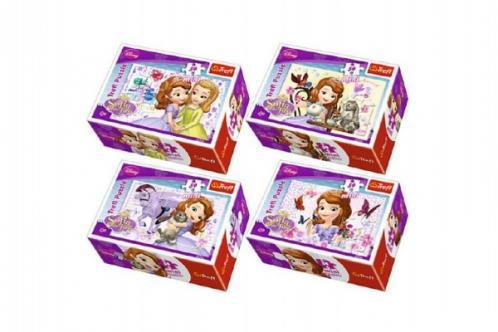 Minipuzzle Princezna Sofia 54dílků asst 4 druhy