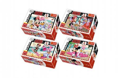 Minipuzzle Minnie & Daisy  54dílků asst 4 druhy
