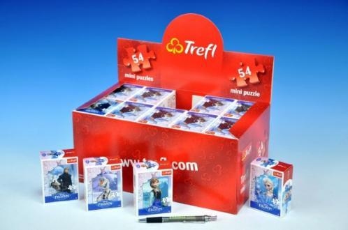 Minipuzzle Ledové království Disney 13x20cm 54 dílků asst 4 druhy