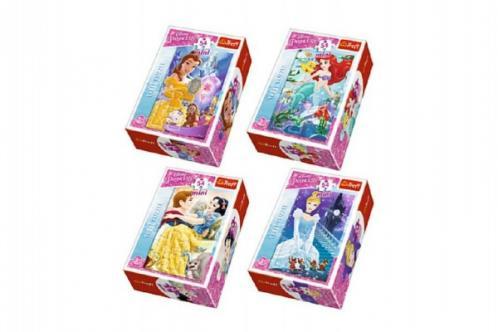 Minipuzzle Princess/Disney 54dílků asst 4 druhy