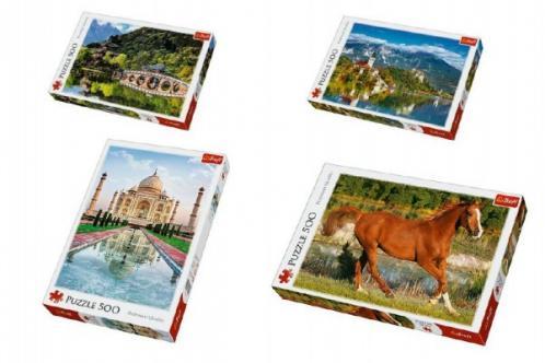 PACK Puzzle 500 dílků Black Dragon Pool, Lijiang + Puzzle 500 dílků Bled, Slovinsko