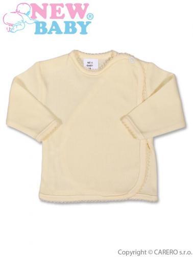 Béžová kojenecká košilka proužkovaná vel. 62 New Baby
