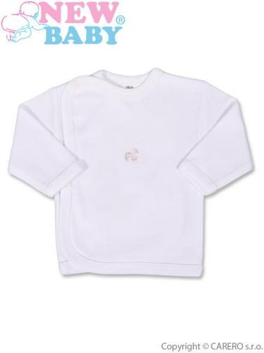 Kojenecká košilka s vyšívaným obrázkem vel. 56 New Baby bílá