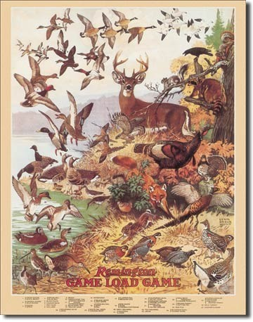 Posters Plechová cedule REM - game load, (32 x 41 cm)