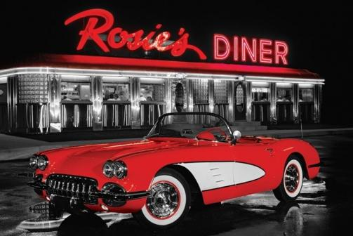 Posters Plakát, Obraz - Rosie's diner, (91,5 x 61 cm)