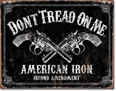 Posters Plechová cedule DTOM - american iron, (41 x 30 cm)