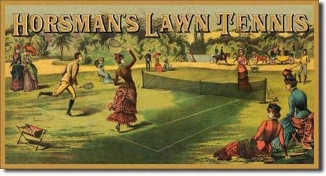 Posters Plechová cedule HORSMAN'S LAWN TENNIS, (40 x 21,5 cm)