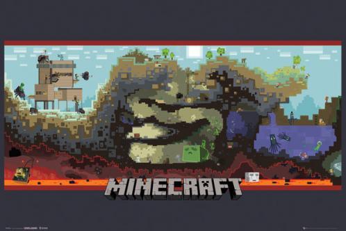 Posters Plakát, Obraz - Minecraft - underground, (91,5 x 61 cm)