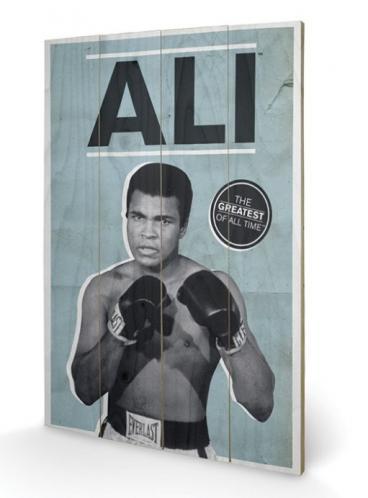 Posters Dřevěný obraz MUHAMMAD ALI - greatest, (40 x 59 cm)