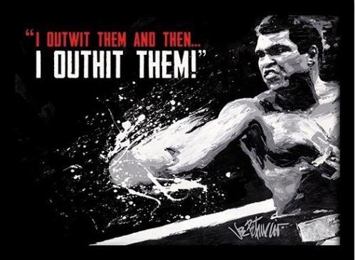 Posters Obraz na zeď - Muhammad Ali - outwit outhit