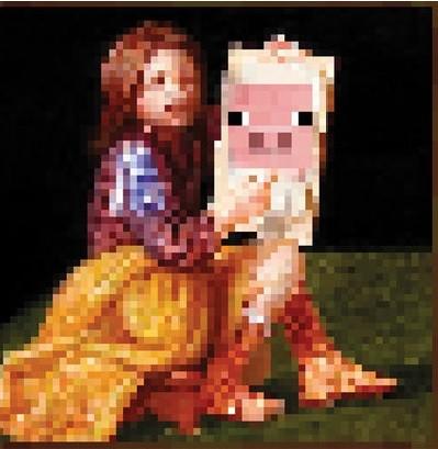 Posters Plakát, Obraz - Minecraft - pig, (61 x 61 cm)