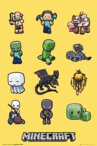 Posters Plakát, Obraz - Minecraft - characters, (61 x 91,5 cm)