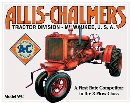 Posters Plechová cedule ALLIS CHALMERS - MODEL WC traktor, (40 x 31,5 cm)