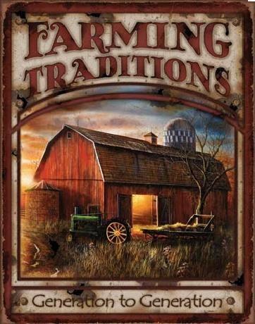 Posters Plechová cedule FARMING TRADITIONS, (30 x 41 cm)