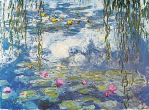 Posters Obraz, Reprodukce - Lekníny, 1916-1919, Claude Monet, (40 x 30 cm)