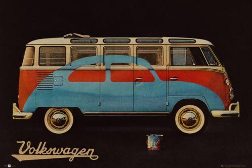 Posters Plakát, Obraz - VW Volkswagen Camper - Paint Advert, (91,5 x 61 cm)