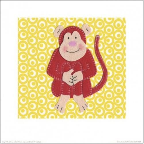 Posters Obraz, Reprodukce - Catherine Colebrook - Cheeky Monkey, (30 x 30 cm)