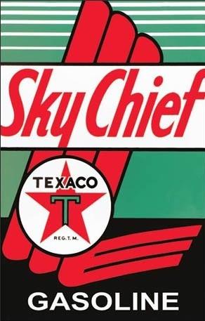 Posters Plechová cedule Texaco - Sky Chief, (31,5 x 40 cm)