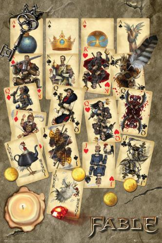 Posters Plakát, Obraz - Fable - Playing Cards, (61 x 91,5 cm)