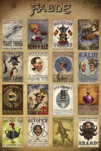 Posters Plakát, Obraz - Fable - Adverts, (61 x 91,5 cm)